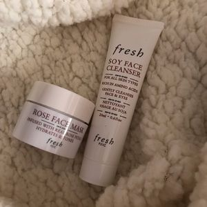 Fresh soy face cleanser and mask